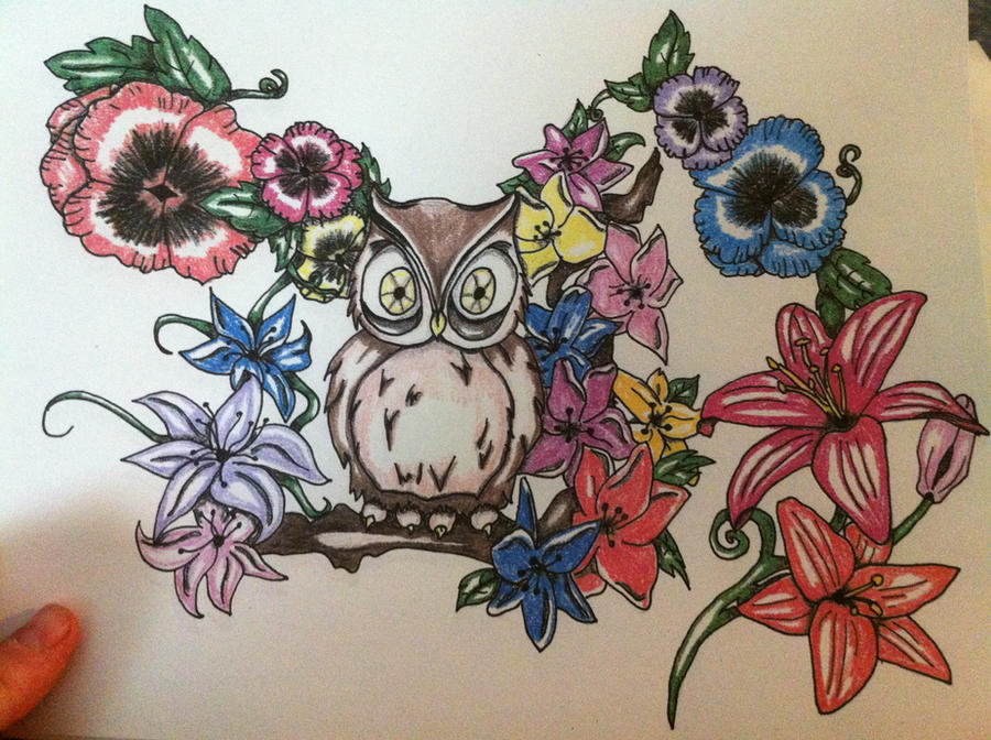 Owl half sleeve design by fukkinkrock on DeviantArt