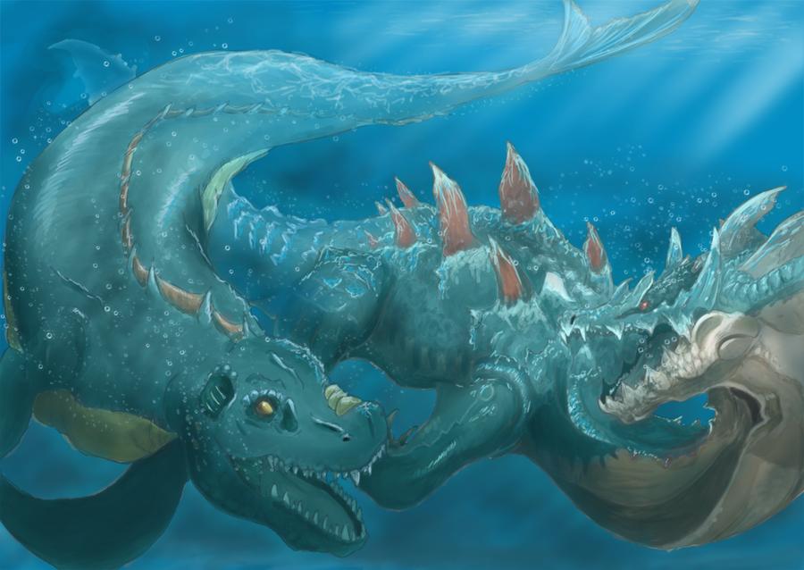 Giant sea monsters art - photo#11
