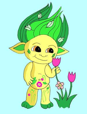 Elfa the Zelf Picking Flowers