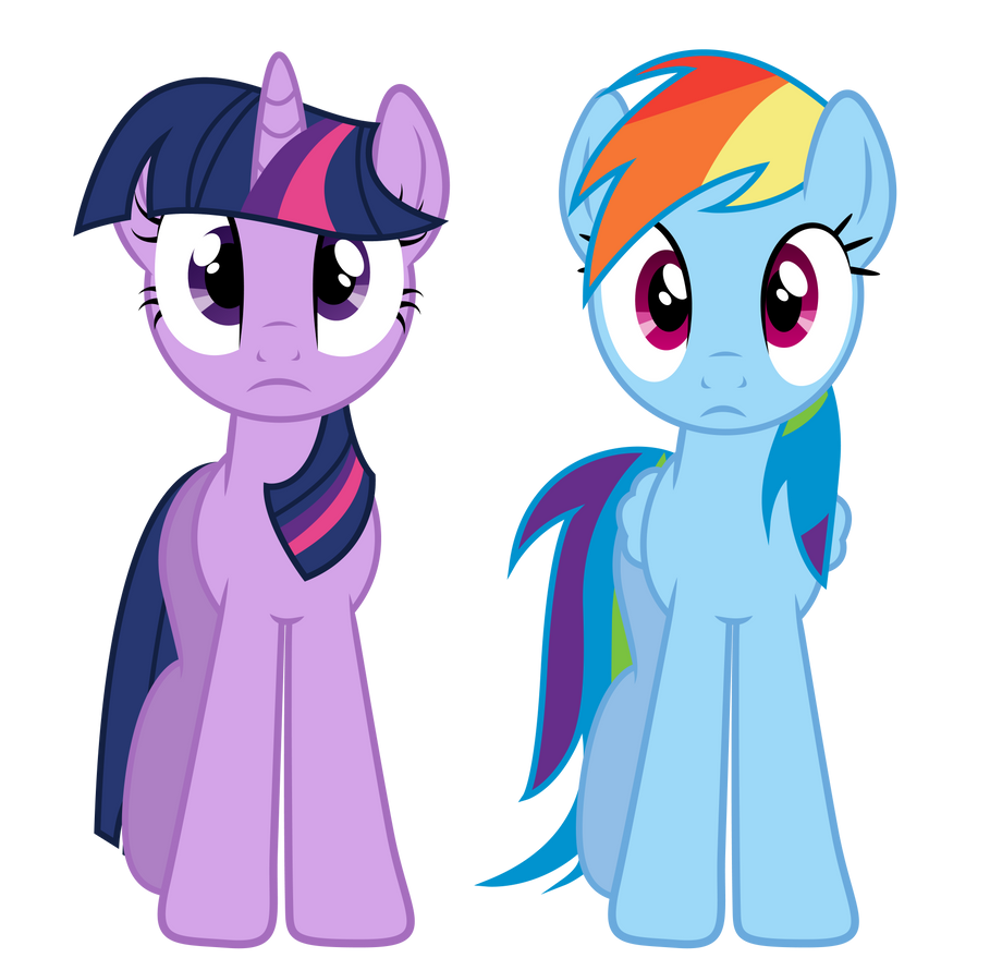 Twilight And Rainbow Dash by PaulyVectors