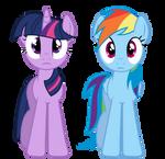 Twilight And Rainbow Dash