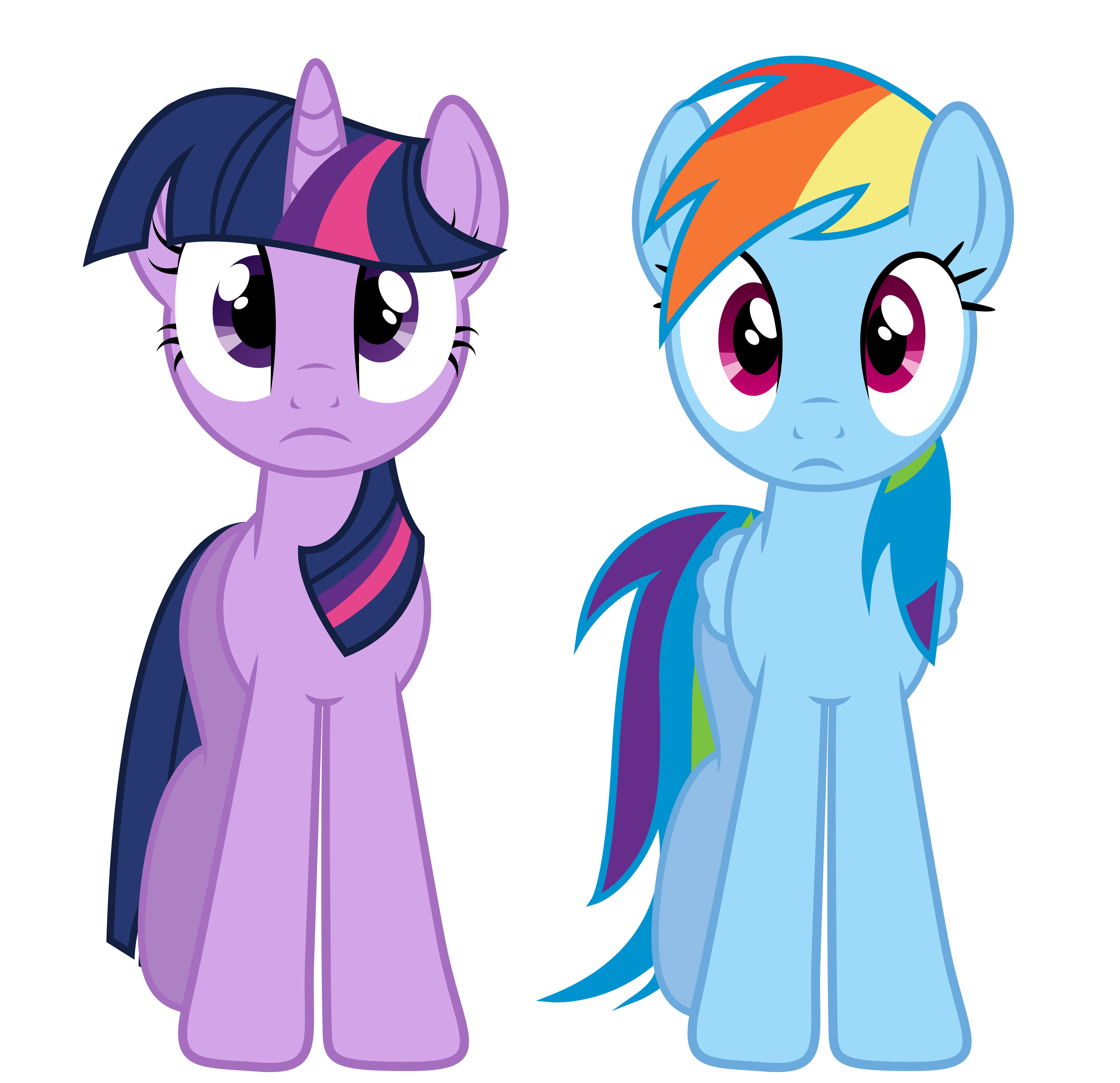Twilight And Rainbow Dash by PaulySentry