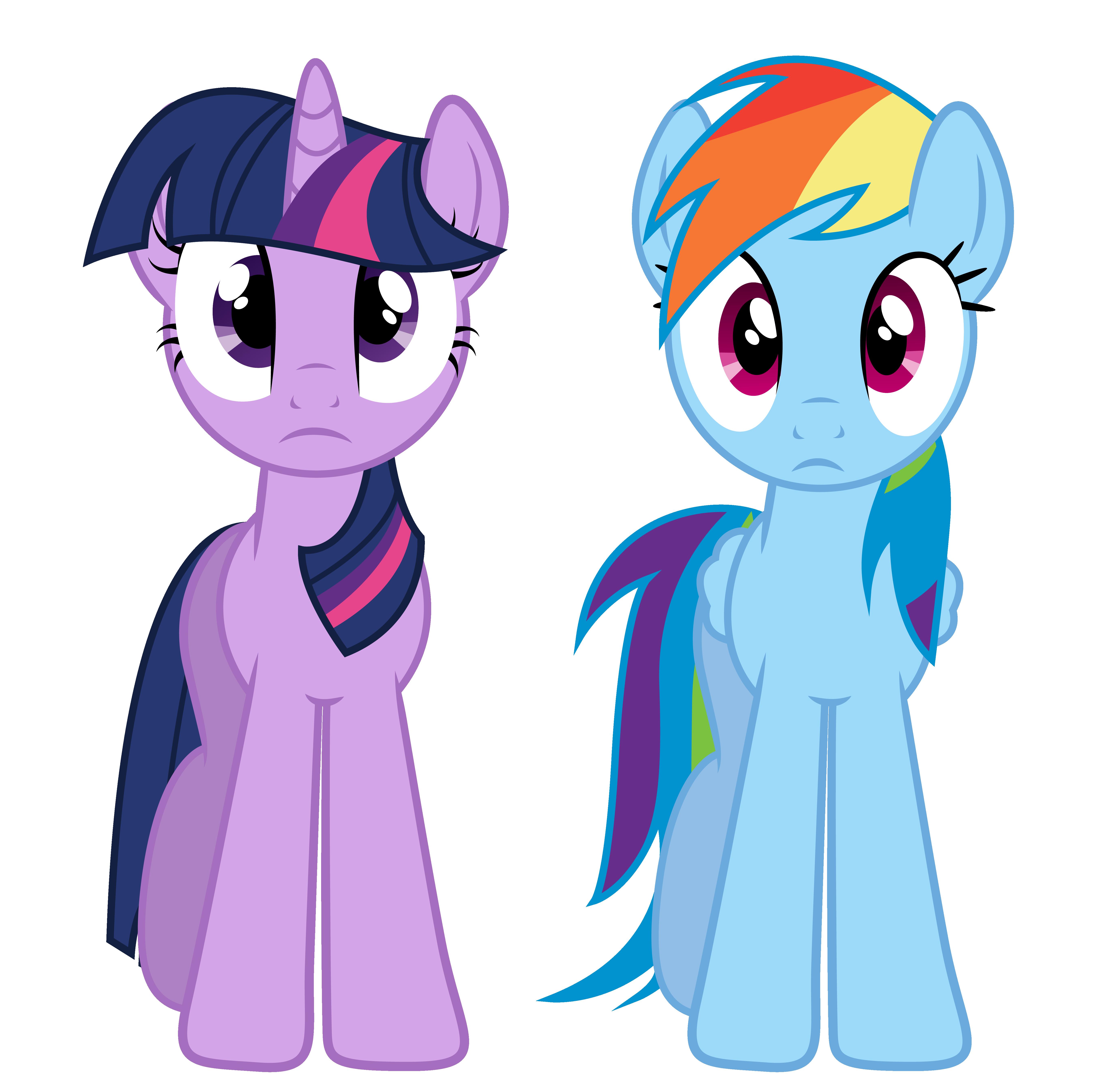 Twilight And Rainbow Dash by PaulyVectors