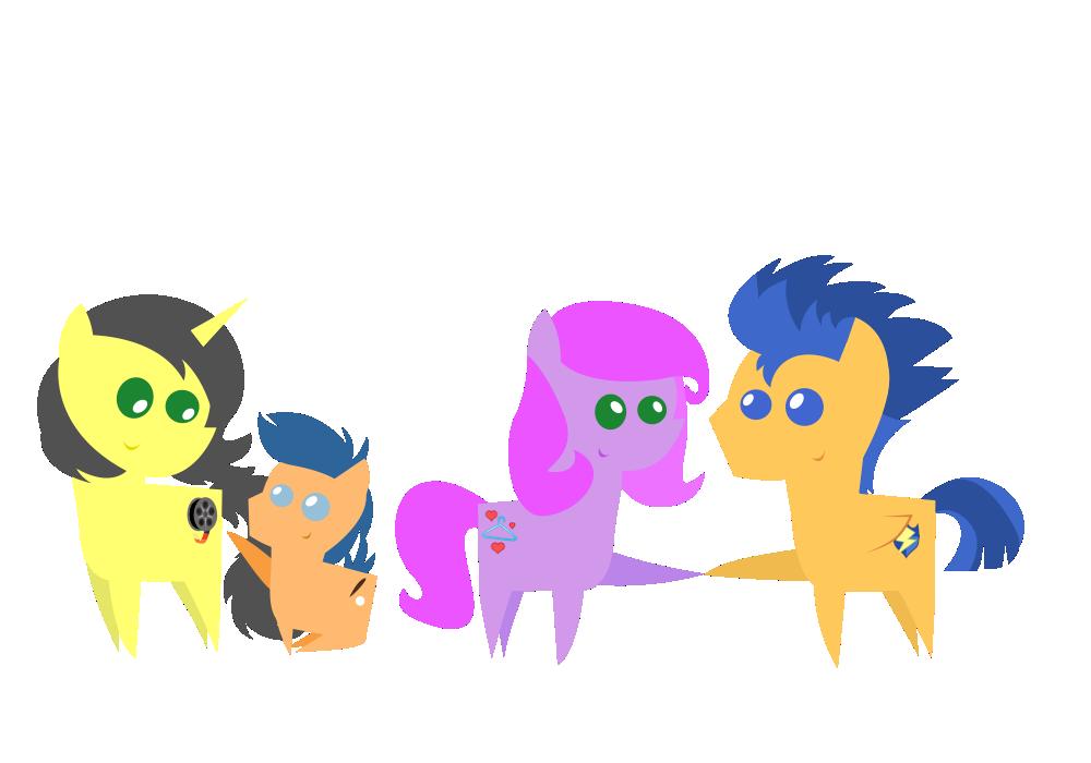 Pointy Ponies: 4 Siblings by PaulyVectors