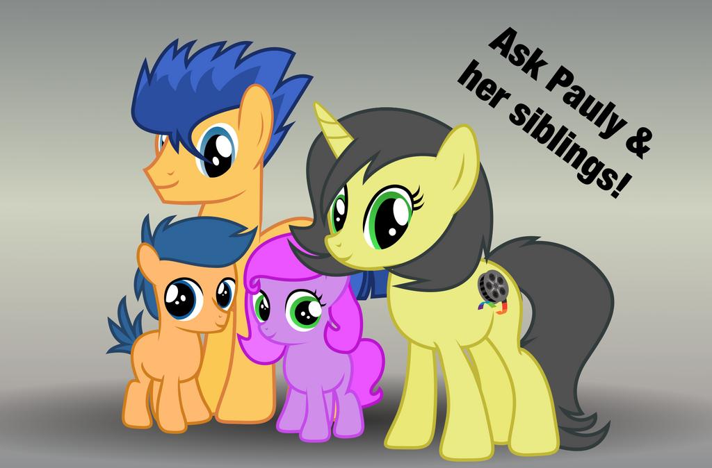 Ask Pauly And Her Siblings by PaulyVectors