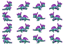 Skye The Dragon Sprite by JengaSoft
