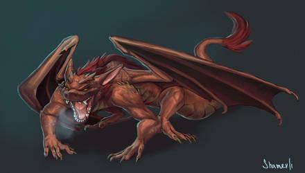 dragon by Shamerli