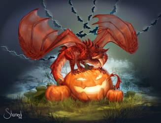 halloween dragon by Shamerli