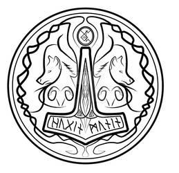 Bragi band logo w shield frame