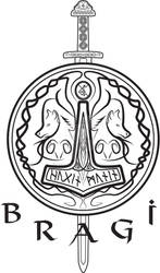 Bragi complete band logo BW