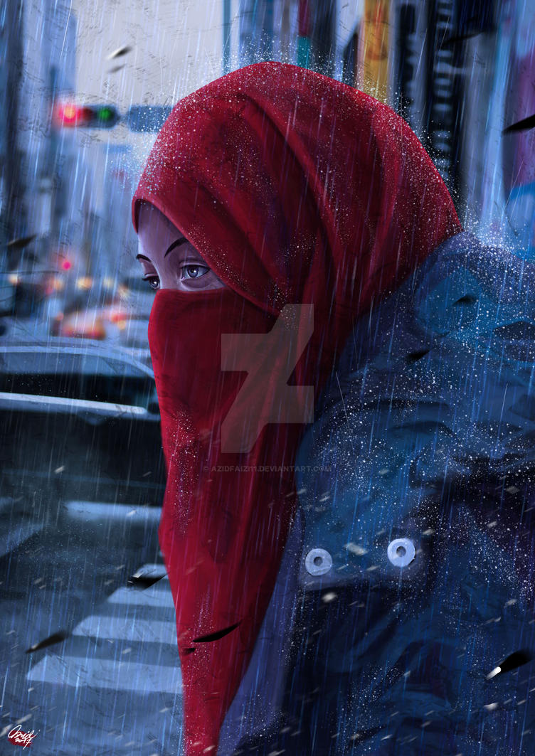 in the middle rain by azidfaizi11