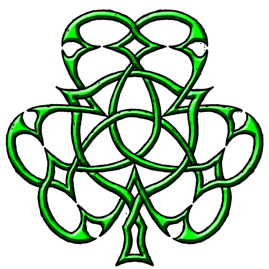Celtic Cross With Shamrock Celtic shamrock triquetra by