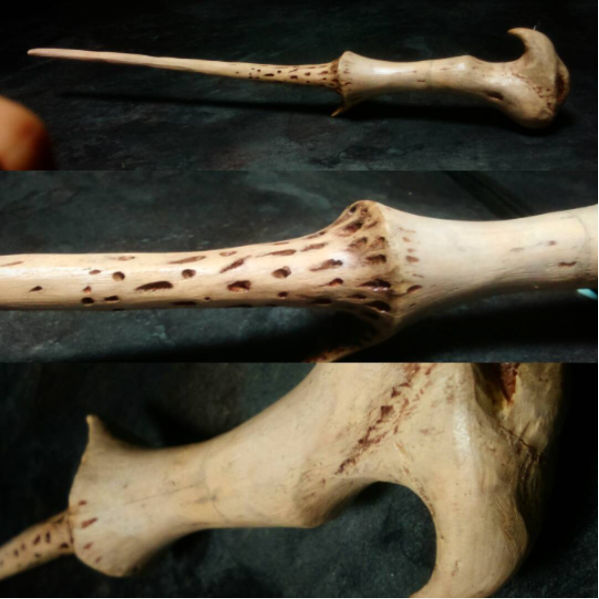 Voldemort Wand Hand Carved Replica By Mental4metal666 On Deviantart
