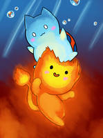 Flambo and Catbug by ZachLazymoth