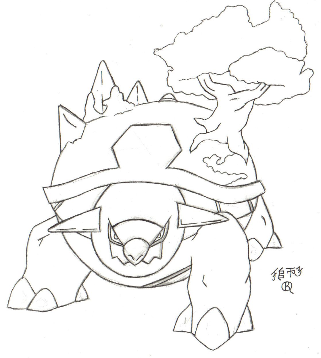 torterra coloring pages-#12
