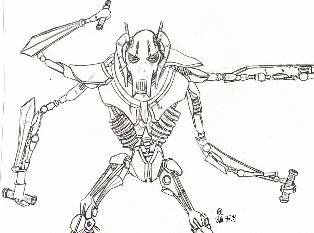 Star Wars - General Grievous by Lionofdemise on DeviantArt