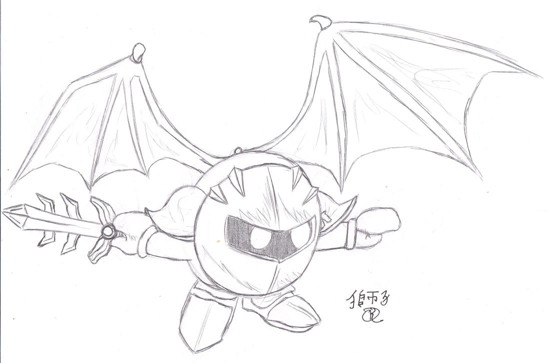 Pin Meta Knight Colouring Pages On Pinterest