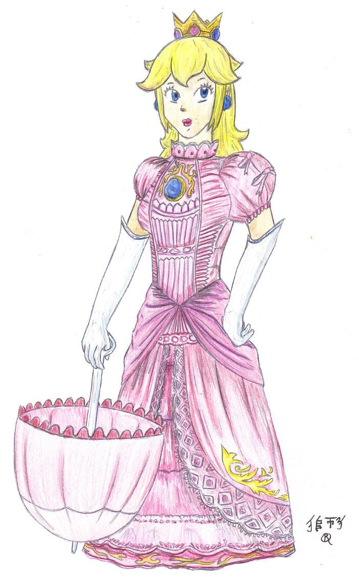 COLOR - Princess Peach by Lionofdemise
