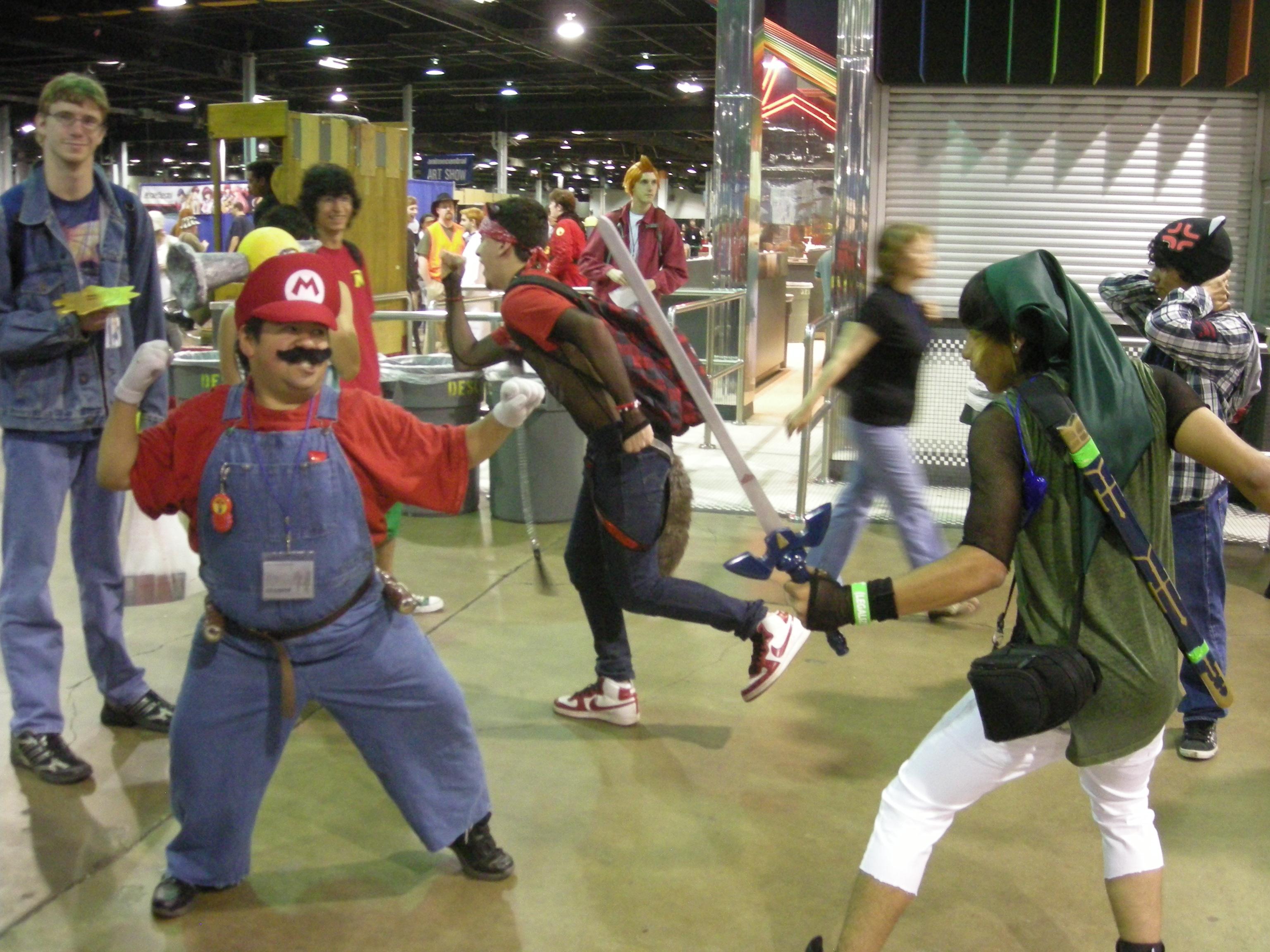 Mario vs Link Mock Battle