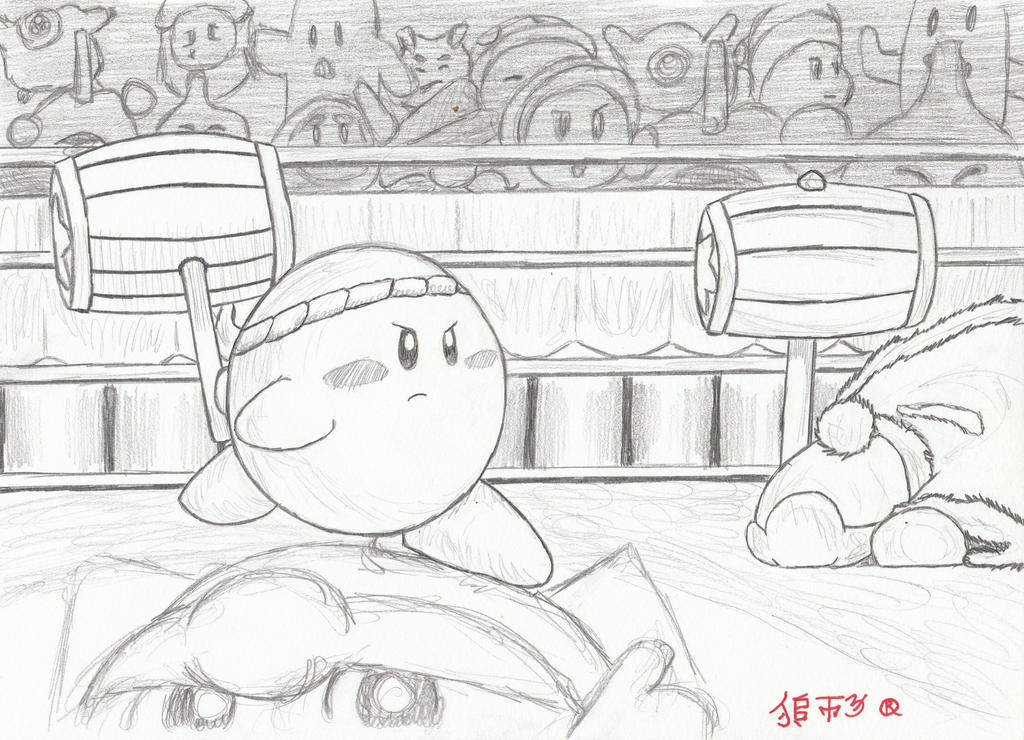 Kirby vs King Dedede by Lionofdemise