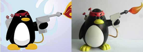Flamthrower Penguin Toy Paint Comparison by Mehdals
