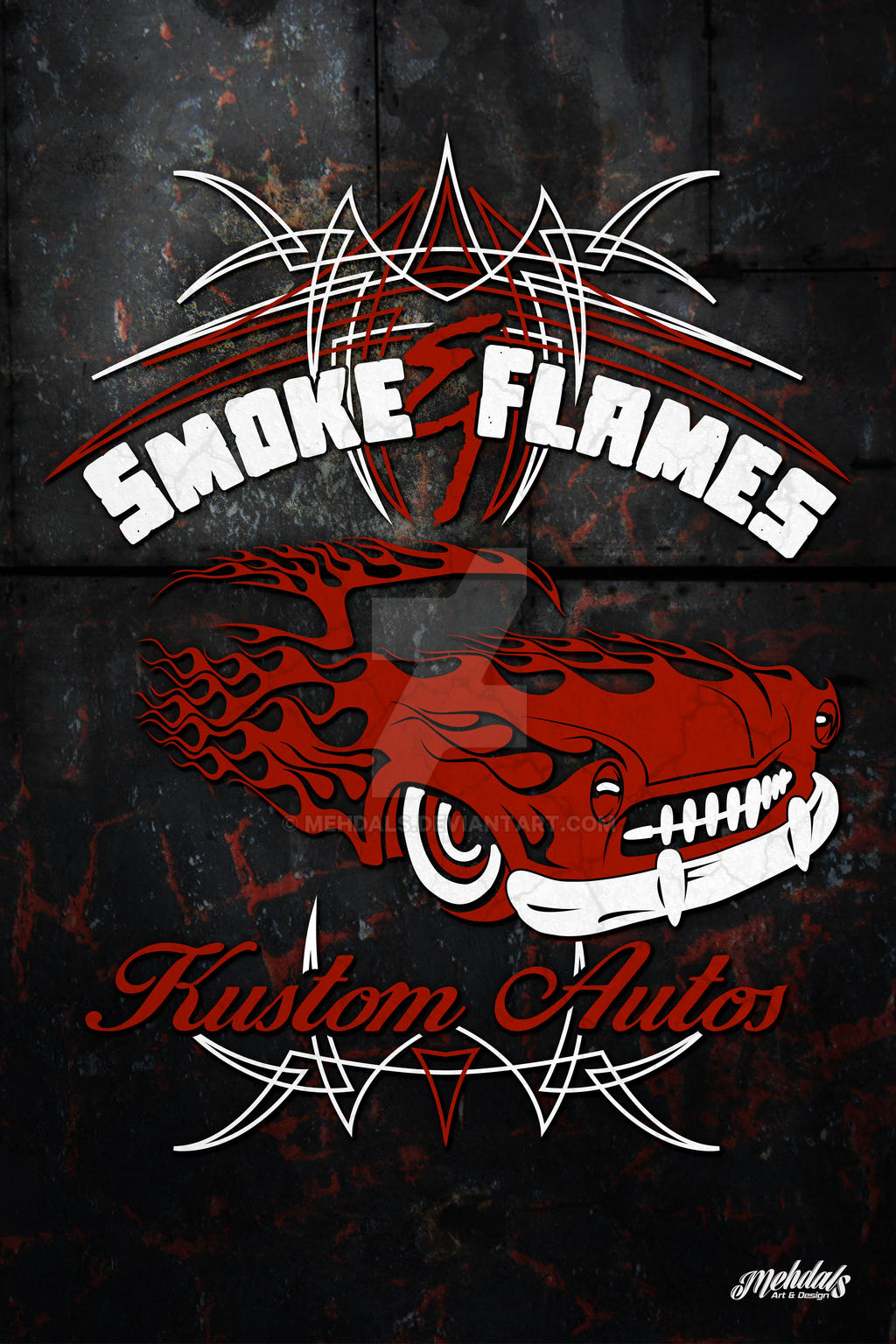 Smoke and Flames Poster by Mehdals