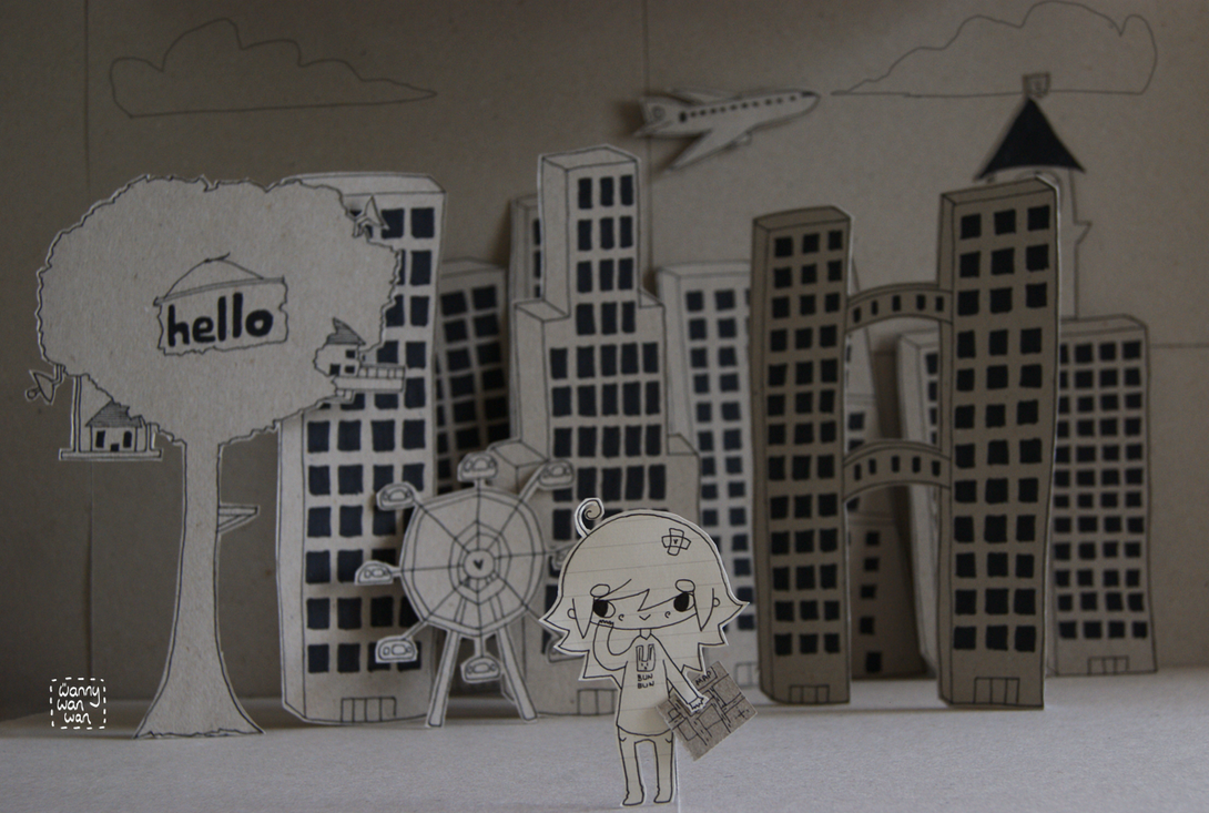 Cardboard City by wannywanwan