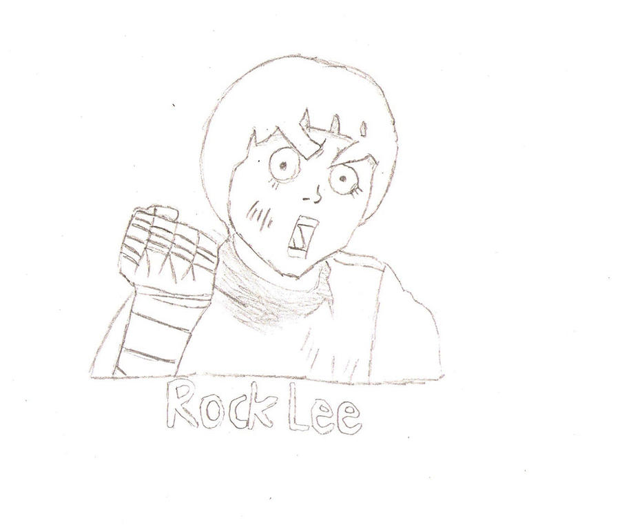 Rock Lee Drawing by T-Taigo on DeviantArt