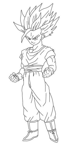Teen Gohan Ssj2 Kamehameha Drawing Sketch Coloring Page