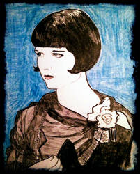 Portrait of Louise Brooks by filmshirley