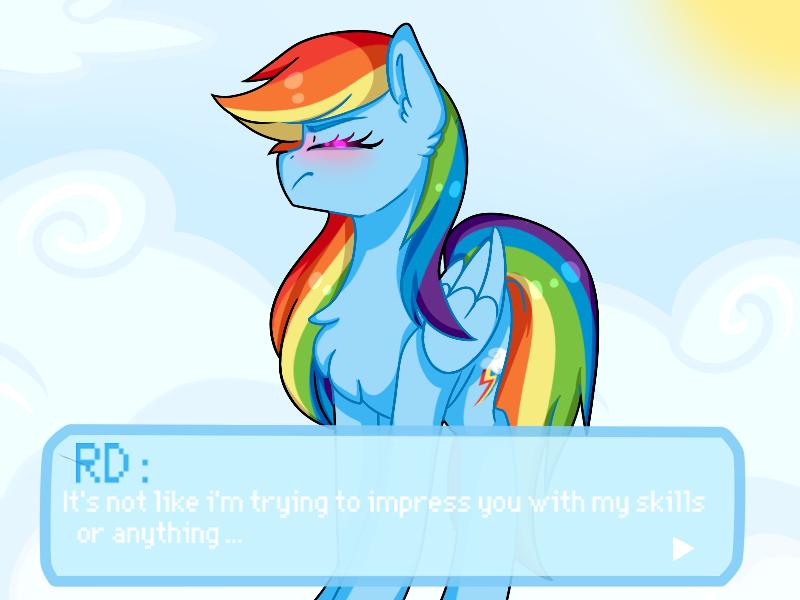 Rainbow dash dating sim