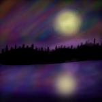 Northern Lights Background by Wildpath101