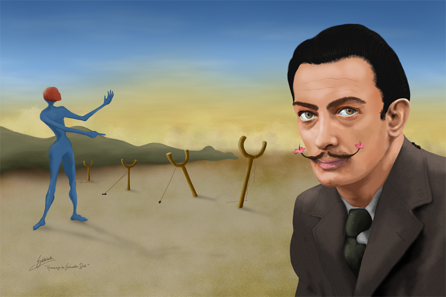 Homage to Salvador Dali by SabinaNore
