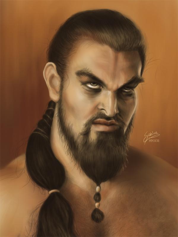 dibujos - dibujos de  Khal Drogo Khal_drogo_by_sabinanore-d5x5pwc