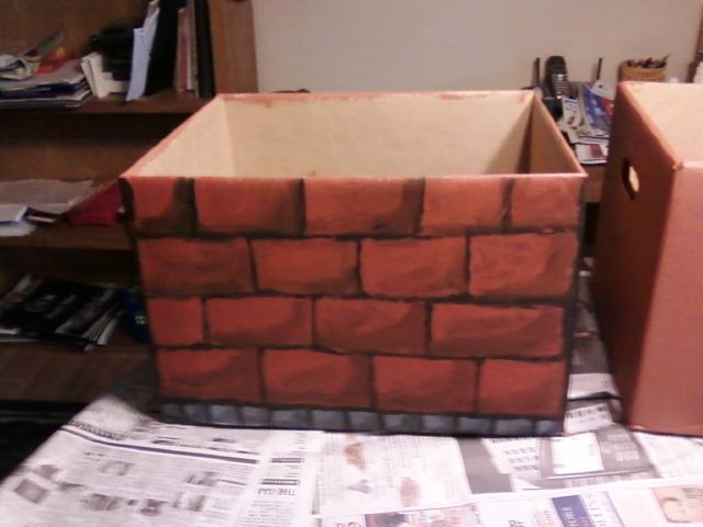 cardboard brick box by moosader on deviantart