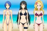 Three Hypnotized Girls at the Beach