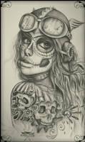 ink design, skulls