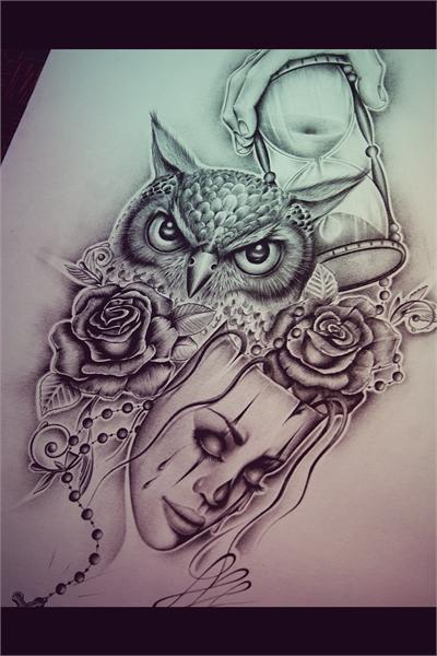 Owl ink by EdwardMiller