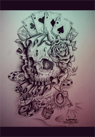 Vegas Skull by EdwardMiller
