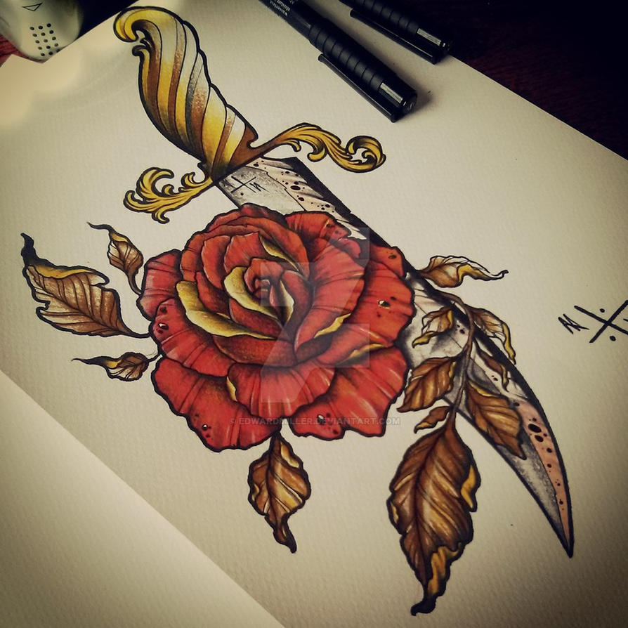 Dagger / Rose by EdwardMiller