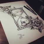 Hourglasses / Roses / Skull