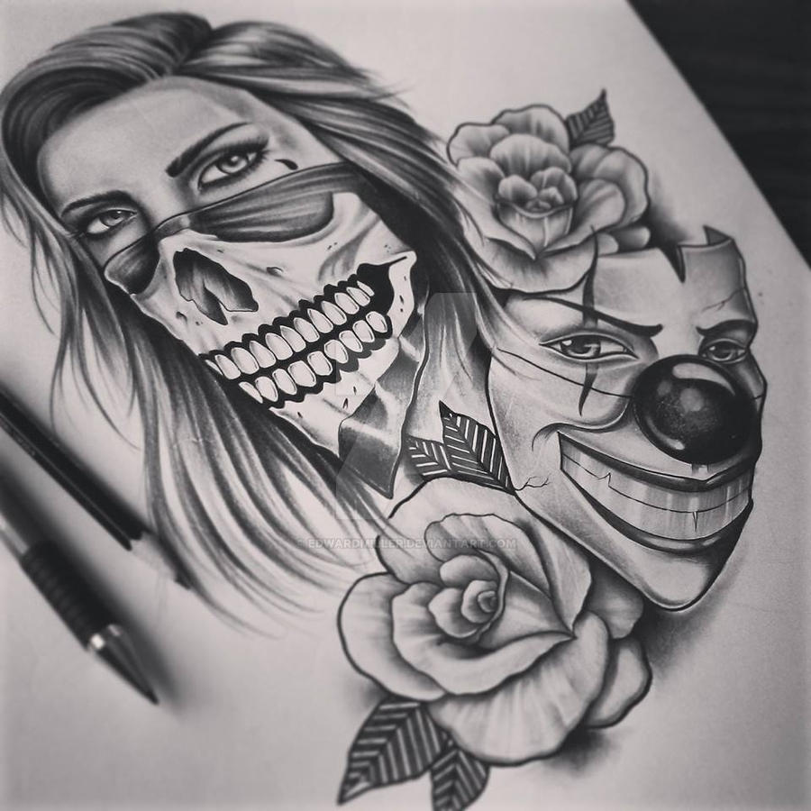 1000 images about on pinterest for Face mask tattoo