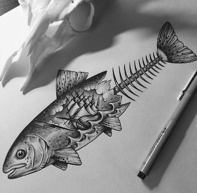 Fish Boat  by EdwardMiller