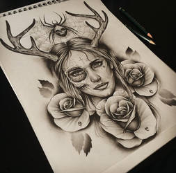 Skull Face Horns by EdwardMiller