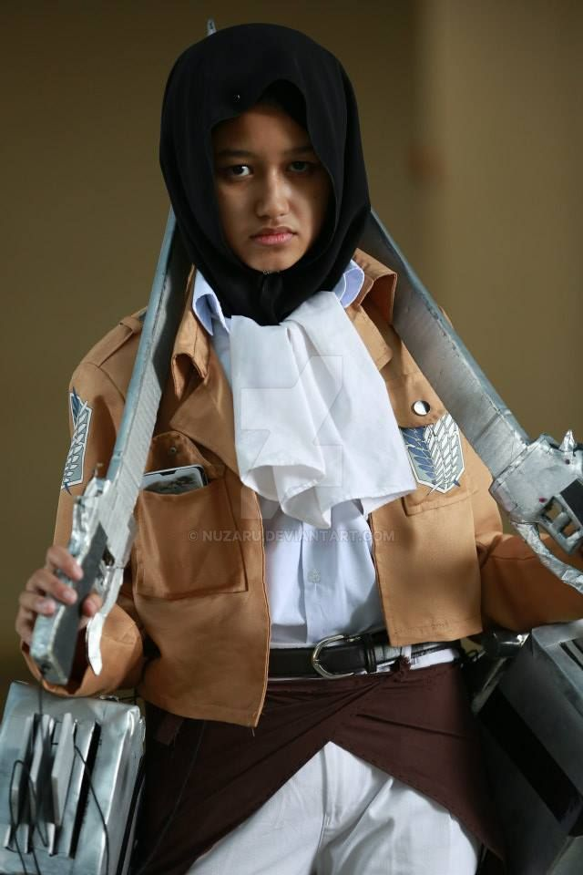 levi hijab cosplay by nuzaru