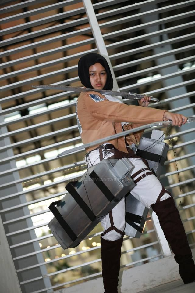 levi hijab cosplay 2 by nuzaru