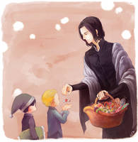 Snape and candies by heilie-mill