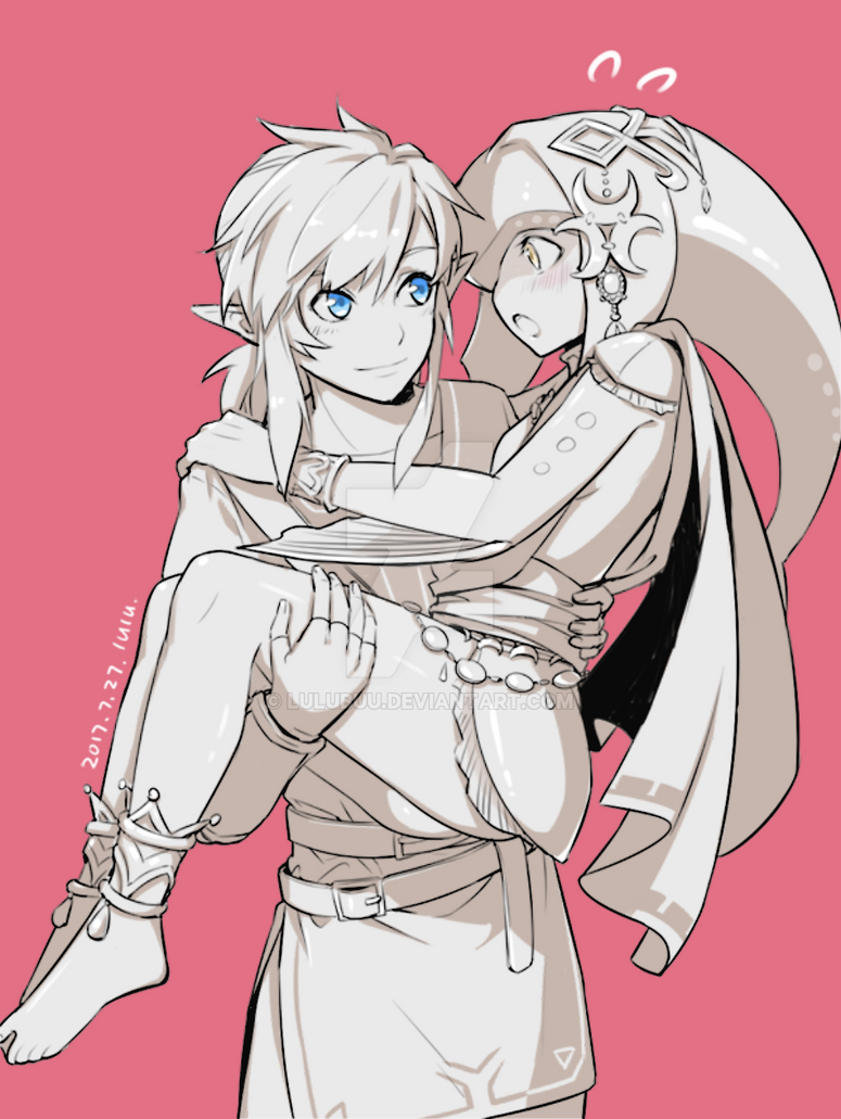 Astro fiction..  Link_and_mipha_by_lulubuu-dbhu6jn