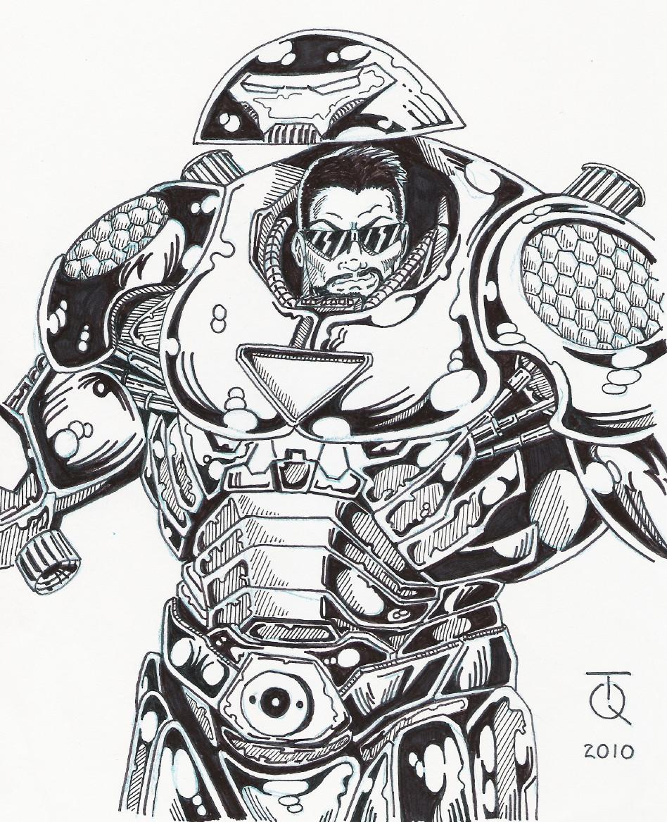 Big Rob Hulkbuster Ink By Tyndallsquest On Deviantart