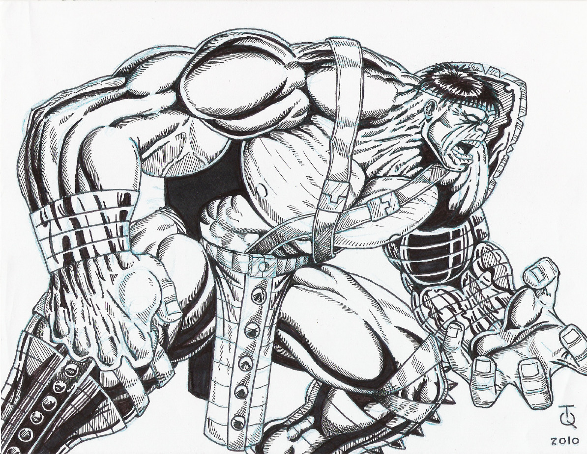 World War Hulk Ink by TyndallsQuest on DeviantArt